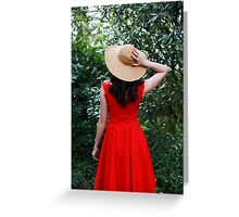 Red  Dress V Greeting Card