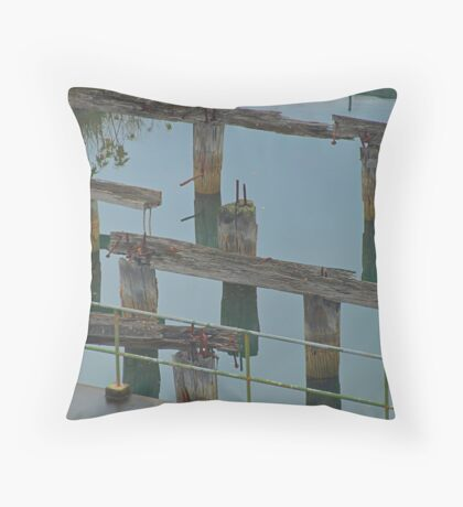 Old Wharf - HDR Throw Pillow