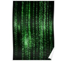 Digital abstract matrix background Poster