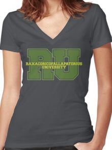 Raxacoricofallapatorius University Women's Fitted V-Neck T-Shirt