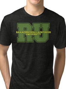 Raxacoricofallapatorius University Tri-blend T-Shirt
