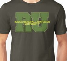 Raxacoricofallapatorius University Unisex T-Shirt