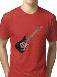 Stratocaster electric guitar  Tri-blend T-Shirt
