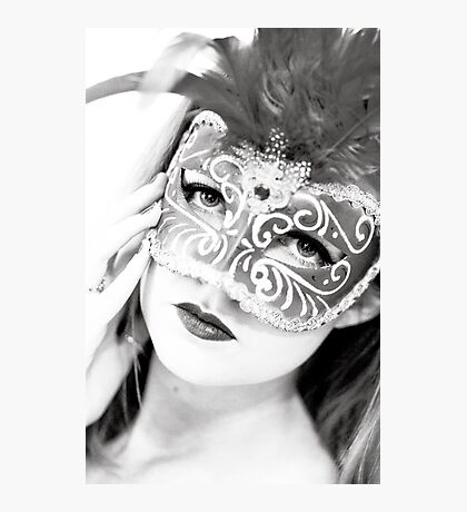 The girl in the mask PI Photographic Print