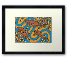 Aarli - (school of fish) irralb season (autumn) Framed Print