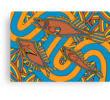 Aarli - (school of fish) irralb season (autumn) Canvas Print
