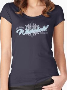 Visit Frosty Winterhold - It's MAGICAL! (tm) Women's Fitted Scoop T-Shirt