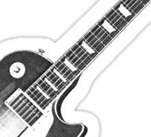 Les Paul electric guitar. Sticker