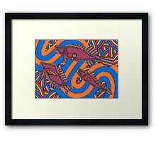 Aarli - (school of fish) barrgan season (winter)  Framed Print