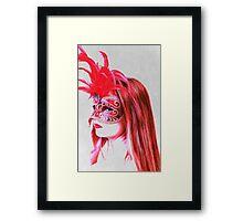 The girl in the mask PII Framed Print
