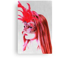 The girl in the mask PII Canvas Print