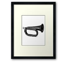 Vintage and Antique Bugle Framed Print