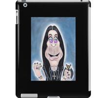 Rock Metal Singer Caricature Drawing iPad Case/Skin