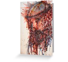 Jesus It Was Done for YOU! (hotwax artwork) (C)ArdithShold(C) Greeting Card