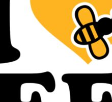 I love bees Sticker