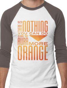 Orange Aura Men's Baseball ¾ T-Shirt