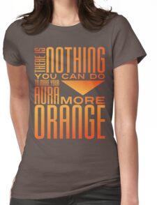 Orange Aura Womens Fitted T-Shirt