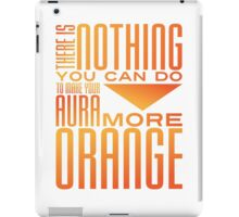 Orange Aura iPad Case/Skin