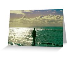 Mid afternoon light, Crosby beach Greeting Card
