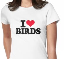I love Birds Womens Fitted T-Shirt