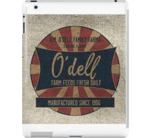 Odell Vintage Farm Feed Sack iPad Case/Skin