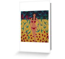 Crab Bikini Greeting Card