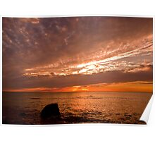 Sunset at Hallett Cove Poster