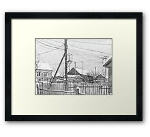 winter in the countryside Framed Print