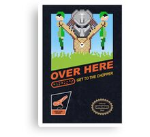 Over here! Canvas Print