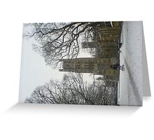 The Ship of the Fenn in the Snow Greeting Card