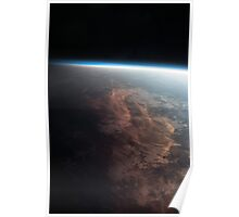 Earth From Space - Fantastic HD image of Earth taken from Orbit - International Space Station #iss Poster
