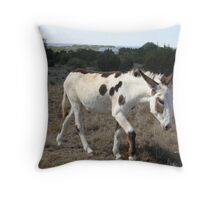 Painted Donkey Throw Pillow