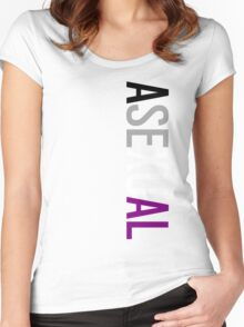 Asexual - Vertical Women's Fitted Scoop T-Shirt