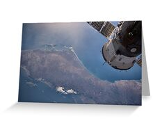 Earth From Space - Fantastic HD image of Earth taken from Orbit - International Space Station #iss Greeting Card
