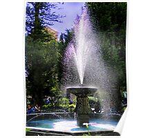 Parque Calderon Fountain in Cuenca Ecuador Poster