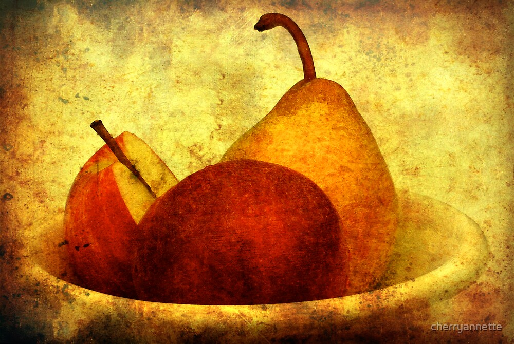 Apples with pear by cherryannette