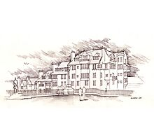 the Edinbrugh Castle Terrace Photographic Print