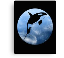 Galaxy Orca Canvas Print