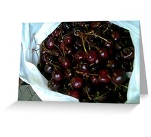 Cherries in a bag Greeting Card