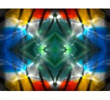 Dark Colorful Flame Reflections Photographic Print