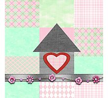 patchwork pink  Photographic Print
