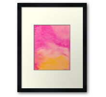 Watercolor pink Framed Print