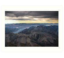 aerial view of mt. cook national park Art Print