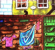 Lancashire backyard by judith murphy