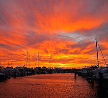 Fremantle Summer Sunset by Barry  Dux