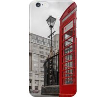 British Red Telephone Box iPhone Case/Skin