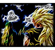 Abstract Super Saiyan 3 Photographic Print