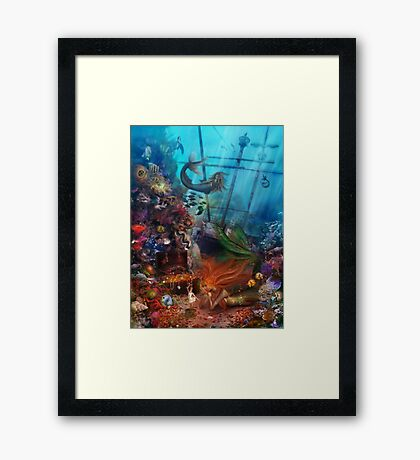 The Mermaid's Treasure Framed Print