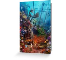 The Mermaid's Treasure Greeting Card