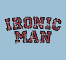 IRONIC MAN (Vintage/Red) Kids Clothes